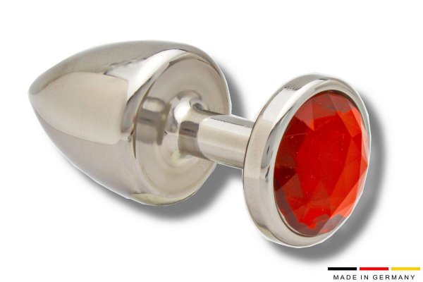 Edler Buttplug 35mm Edelstahl mit Kristall