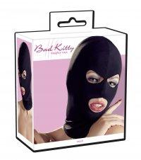 Schwarze, elastische Kopfmaske