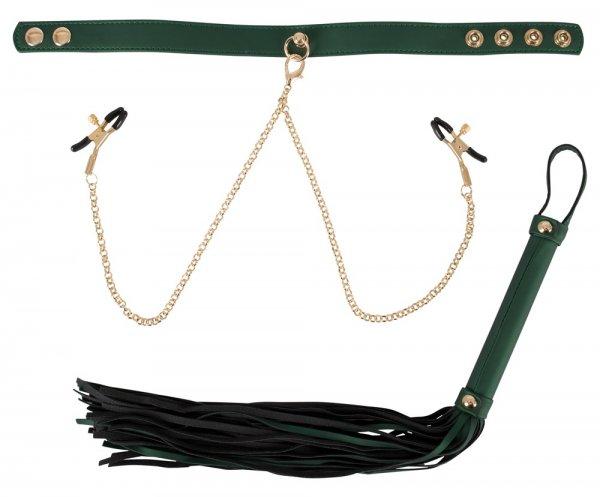 Peitsche und Halsband