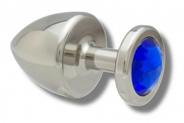 Buttplug Edelstahl 40 mm blau