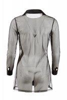 Vorschau: Schwarz-transparente Bluse mit langem Arm