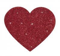 Vorschau: Glitzernde rote Nippel-Herzen zum Aufkleben