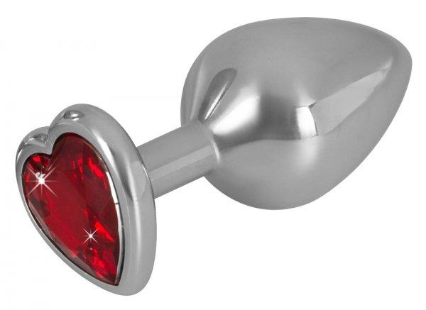 Aluminium-Analplug mit Schmuckstein