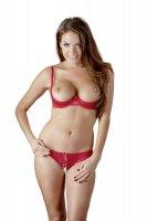 Vorschau: Rotes Büstenhebe-Set Valerie mit Slip
