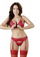 Vorschau: Büstenhebe- und String rot
