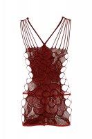 Vorschau: Nahtloses Netzkleid in feurigem Rot