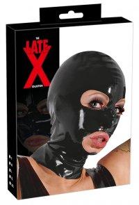 Latex-Kopfmaske Latex Kopfmaske schwarz