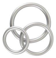 Vorschau: Metallic Silicone Cock Ring Set