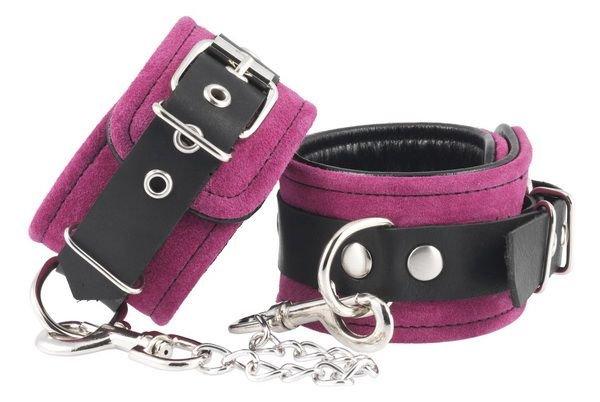 Handschellen Velours rosa