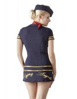 Vorschau: Stewardess Kostüm - Blaues Minikleid