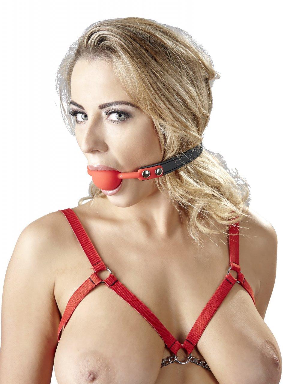 Roter Mundknebel aus Silikon