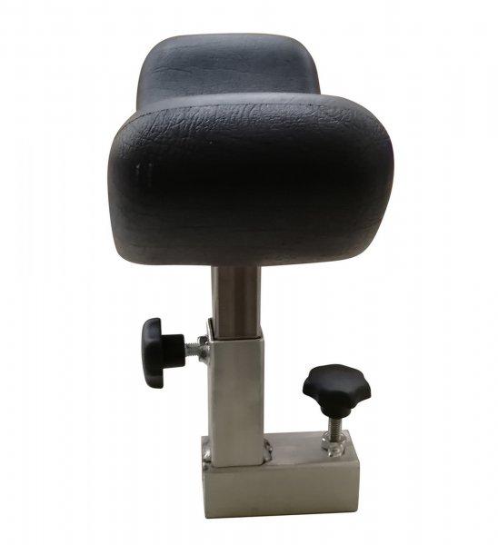 Verstellbare Kopfstütze für den Bodenpranger