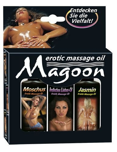 Magoon 3er Set Massage-Öle 50 ml