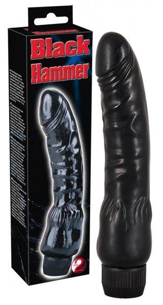 Black Hammer Tiefschwarzer Action-Vibrator