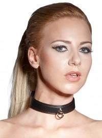 Schmale, schwarze Halsfessel