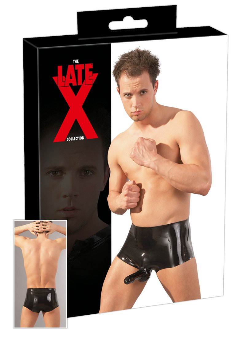 Latex-Pants mit Penis-Hoden-Hülle