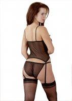 Vorschau: Strapshemd Set schwarz Verführ-Outfit