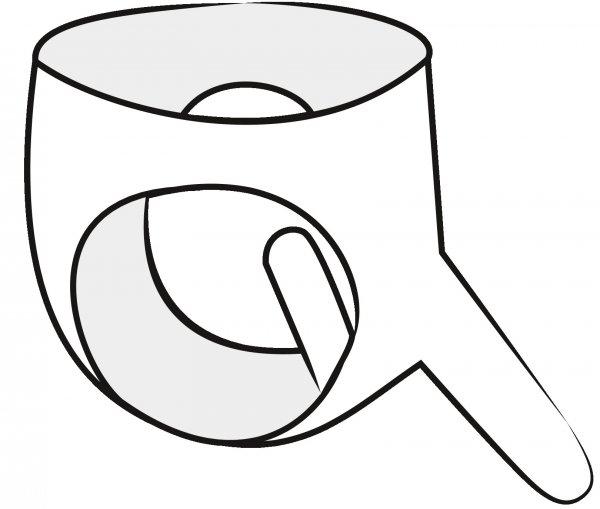 Schwarzer Latexslip mit Außen- und Innendildo