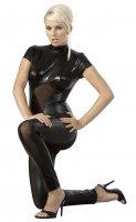 Vorschau: Catsuit im schwarz-glänzenden transparenten Wetlook