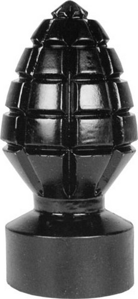 All Black Andreas Analplug - die Granate im Bett 14,5x 6,5cm