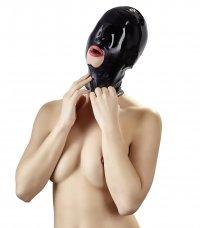 Kopfmaske aus Latex mit Mundöffnung