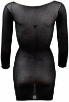 Vorschau: Schwarzes transparentes Minikleid aus Strumpfmaterial