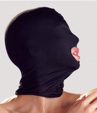 Elastische Kopfmaske in Schwarz