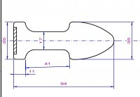 Vorschau: Buttplug Edelstahl 35 mm