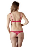 Vorschau: Rotes Büstenhebe-Set Valerie mit Slip hinten
