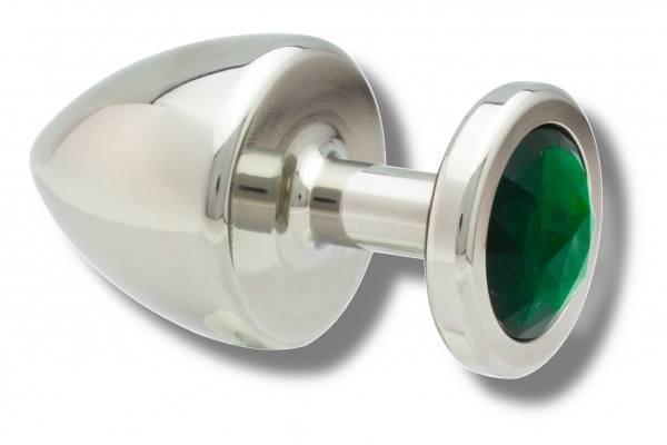 Buttplug Edelstahl 40 mm grün