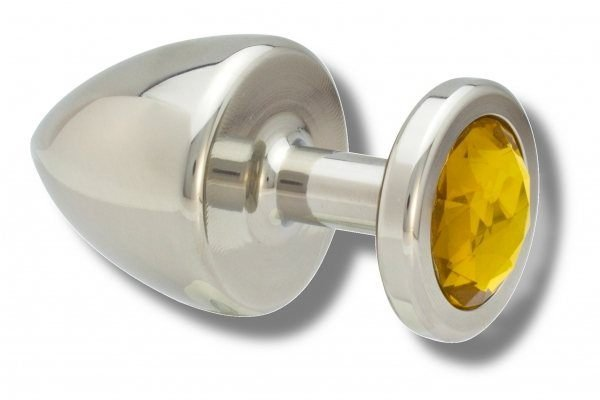 Buttplug Edelstahl 40 mm gelb