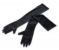 Vorschau: Schwarze, extra lange Handschuhe aus Wetlook