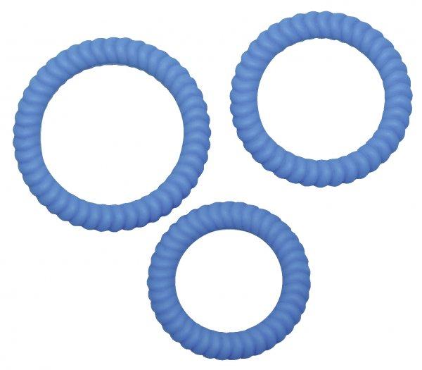 3 Penisringe mit Rillenstruktur 2,6, 3,0 und 3,5 cm