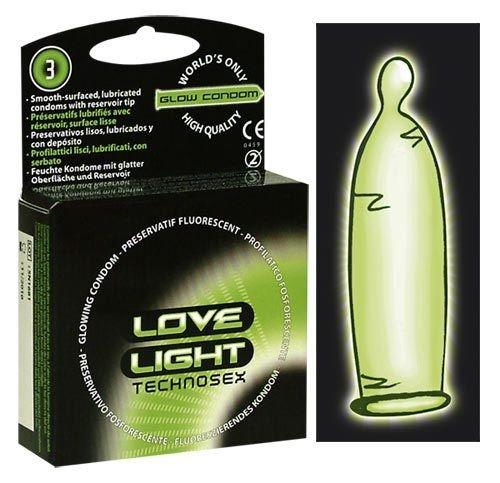 Kondom Love Light Glowkondom 3er