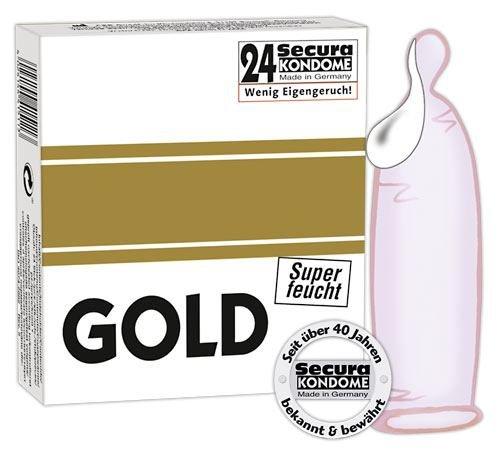 Kondom Secura Gold Superfeucht
