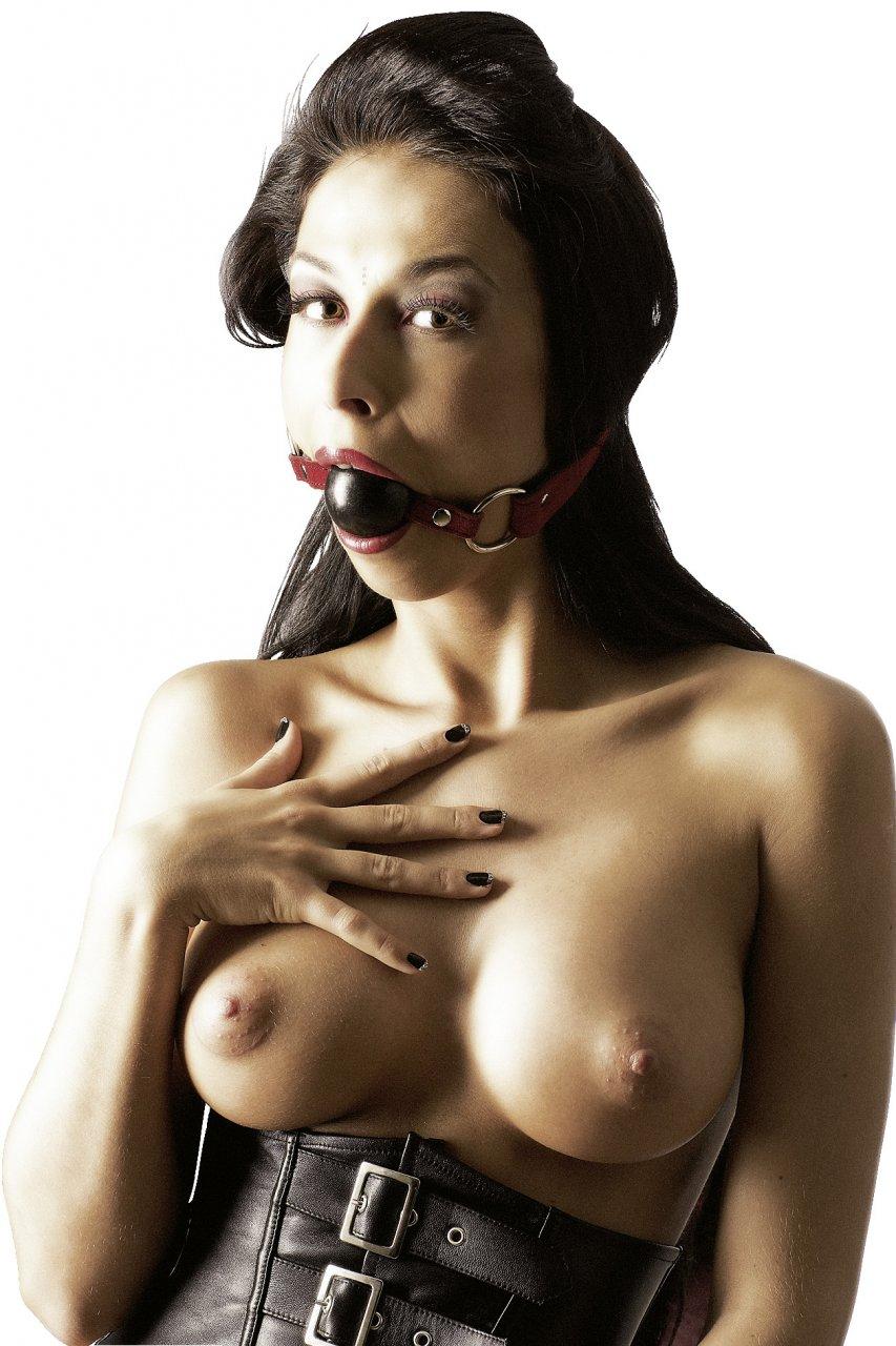 Mundknebel mit schwarzem Silikon-Beißball